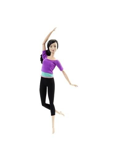 Barbie Sonsuz Hareket Bebeği Siyah Saçlı Siyah Taytlı DHL84 Renkli